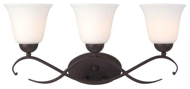 Feiss Canterbury 3 Light Vanity Fixture Oil Rubbed Bronze: Canarm Lily 3 Light Vanity In Oil Rubbed Bronze