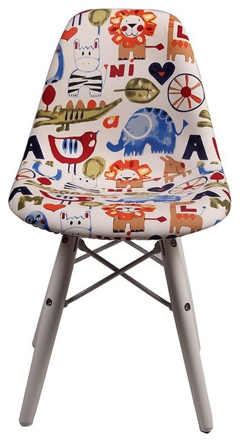 Super Dsw Eiffel Chair For Kids Upholstered Fabric White Wooden Legs Machost Co Dining Chair Design Ideas Machostcouk