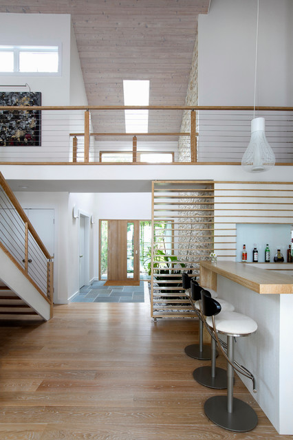 Example of a trendy home design design in New York