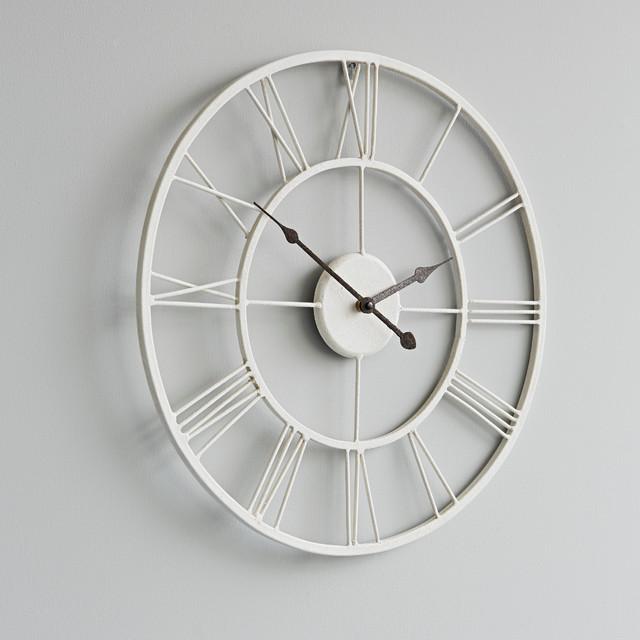 White Metal Wall Clock Rustic Wall Clocks London