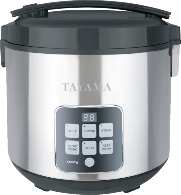 10-Cup Digital Rice Cooker And Food Steamer.
