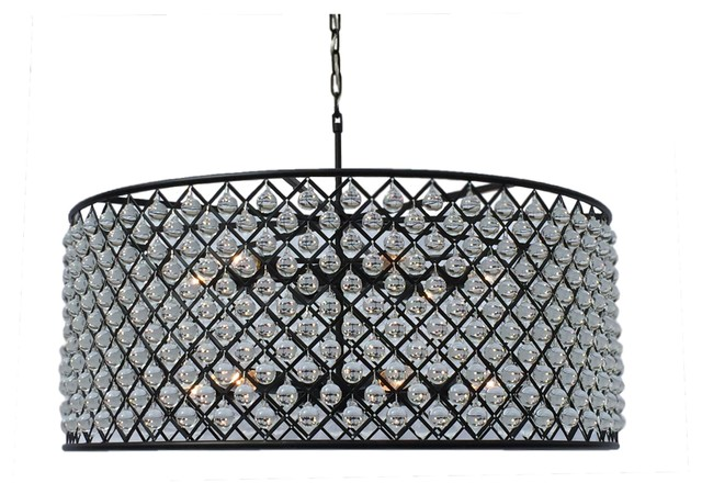 Cassiel round drum crystal chandelier extra large black cassiel round drum crystal chandelier extra large black aloadofball Images