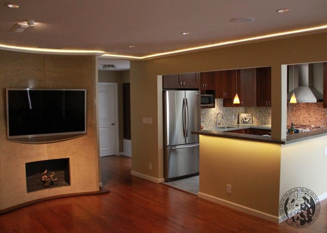 """""""TV and Fireplace"""", entertainment center, living room - San Francisco - by Zeus Remodeling"""