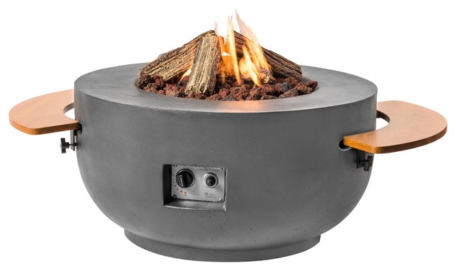 Bowl Cocoon Fire Pit, Grey