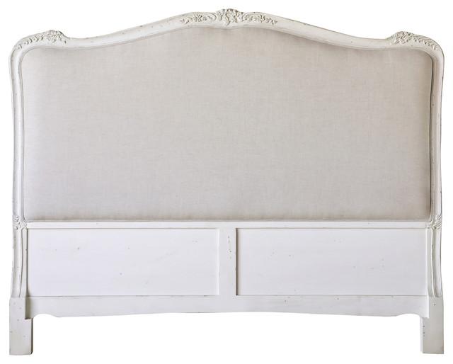 eloquence® sophia queen headboard in antique white  traditional, Headboard designs