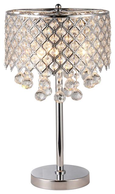 Marya 3 Light Chrome Round Crystal, Crystal Chandelier Bedroom Lighting