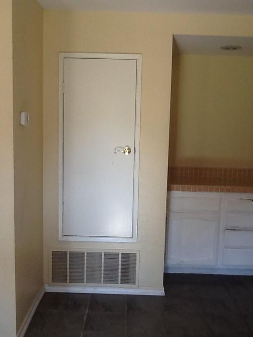 & Great fix for ugly utility door
