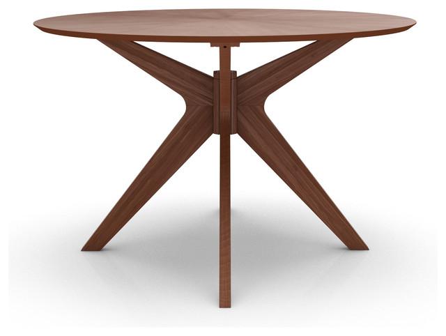 Starburst Round Dining Table, Natural Walnut