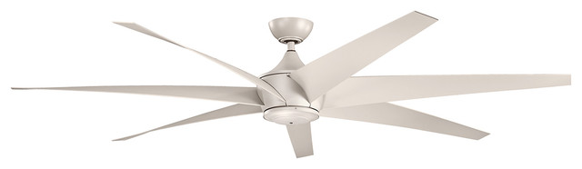Contemporary Lehr Ceiling Fan, Antique Satin Silver.
