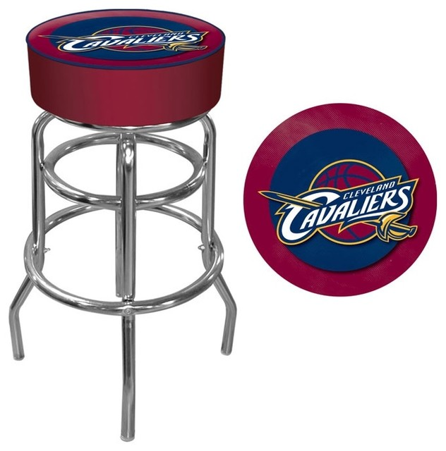 Cleveland Cavaliers Nba Padded Swivel Bar Sto Contemporary Bar