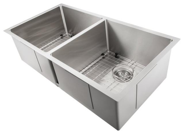 Zline Anton 36 Undermount Double Bowl Sink In Stainless Steel Sr50d 36 Contemporary Kitchen Sinks By Zline Kitchen And Bath