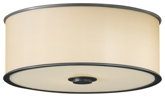 Feiss Casual Luxury 2 Lights Indoor Flush Mount, Dark Bronze.