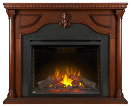 Napoleon The Aden 40 Electric Fireplace Mantel Package.