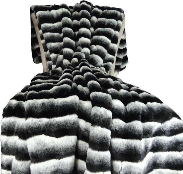 Thomas Collection Faux Fur Plush Super Soft Throw Blanket 16432 58wx60l.