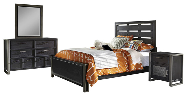 Terrific Pulaski Graphite Youth 4 Piece Bedroom Set Full Interior Design Ideas Helimdqseriescom