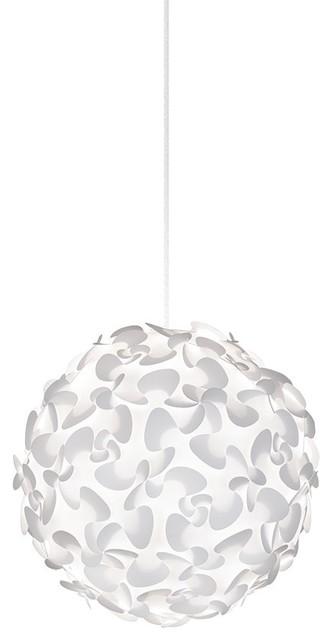 Lora Globe Plug-In Pendant, White/white.