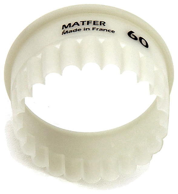 "Matfer Bourgeat Exoglass Carnation Pastry/cookie Cutter, 2.37"" White 150117."