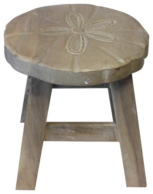 Fabulous Sand Dollar Coastal Wood Step Stool Whitewashed Finish 10 75 Inches Theyellowbook Wood Chair Design Ideas Theyellowbookinfo
