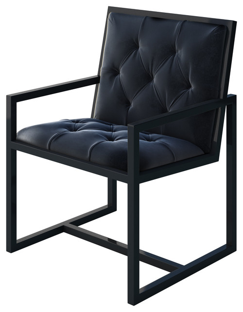 Captivating Cole Metal Chair With Black Metal Frame And Black Velvet Seat Modern  Armchairs And