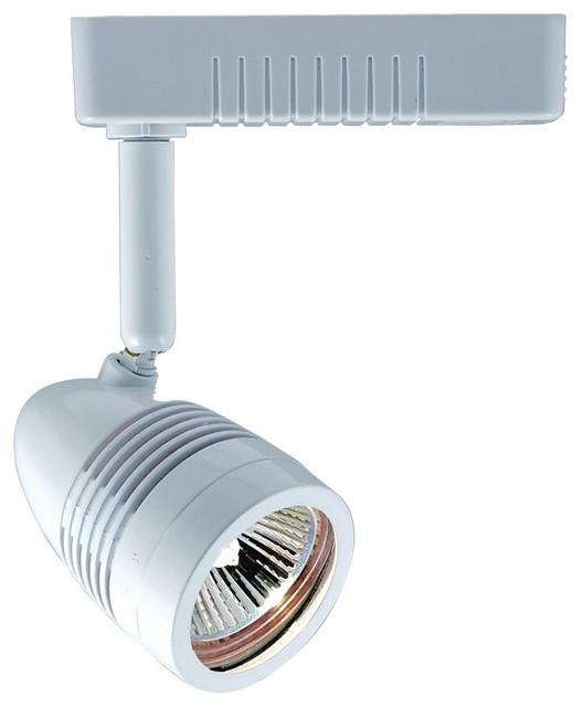 White Pendant Track Lighting: 1-Light Mini Deco Series Low Voltage Track Head