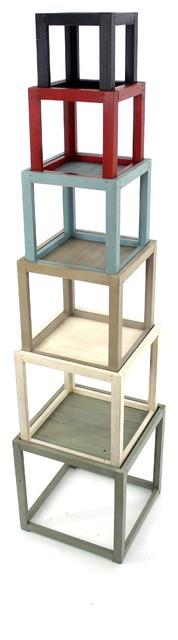 Almada Wood Shelf, Multicolor.