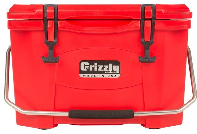 Grizzly 20 Quart Cooler, Red.
