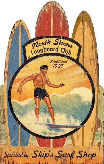 North Shore Longboards Surfing Sign by Red Horse Signs