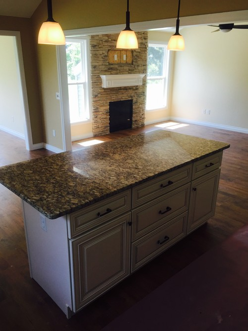 Recently We Did Antique White Kitchen U0026 Giallo Napoli Granite For Our  Reputed Customer Donu0027t Your Think Itu0027s Clear Water Custom Homes :) I Will  Really ...