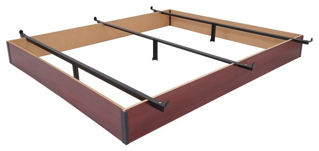 Mantua Cherry Finish Wood Bed Base - Traditional - Bed Frames - by ...
