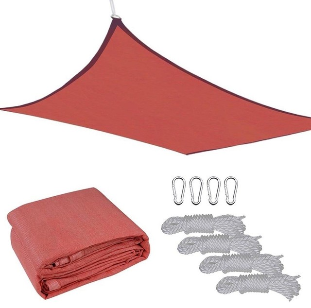18&x27;x18&x27; Uv Proof Sun Shade Sail Cover, Red.