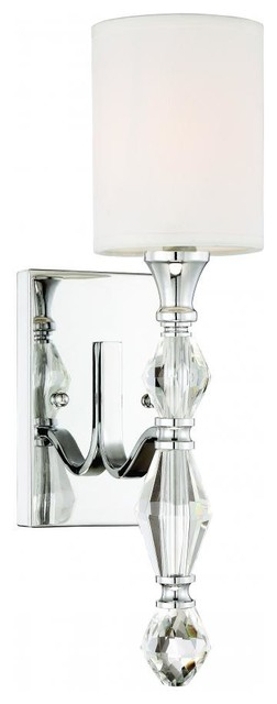 Evi 1-Light Wall Sconce/bath, Chrome.