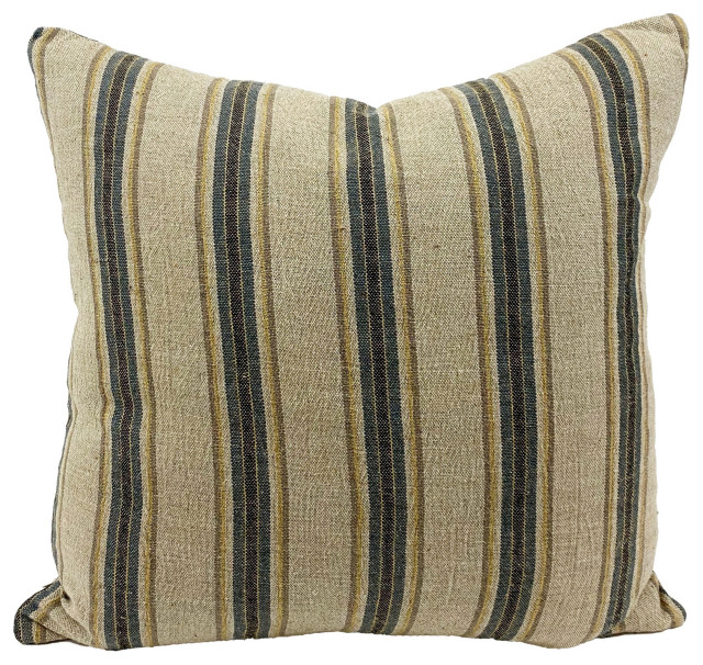 Wrinkle Organic Linen Handmade Throw Pillow Contemporary Decorative Pillows By H E Goods Company