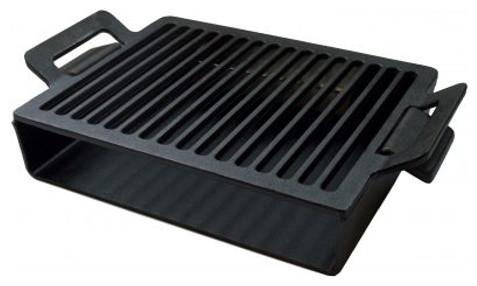 Steven Raichlen Best Of Barbecue Cast Iron 12.5 X 8.1 Inch Smoking Grate/plancha.