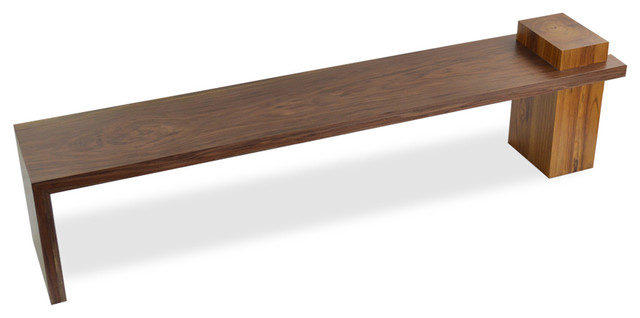 Rotsen Furniture Solid Walnut And Teak Wood Bench View