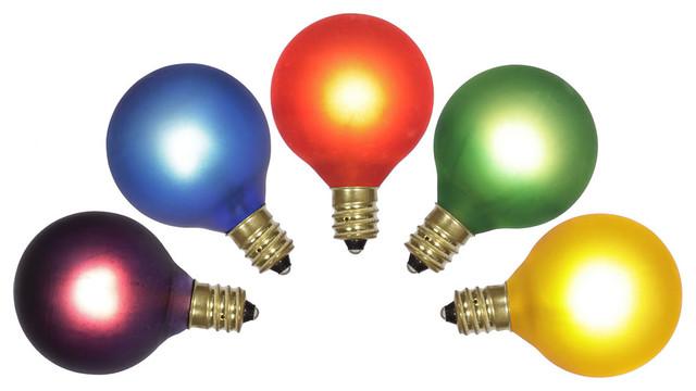 G40 Multi Twinkle Bulb 120v 7w E12 5/box.