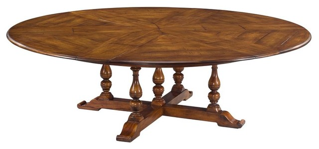 rustic extra large solid walnut round dining table seats 10 12 traditional dining tables. Black Bedroom Furniture Sets. Home Design Ideas