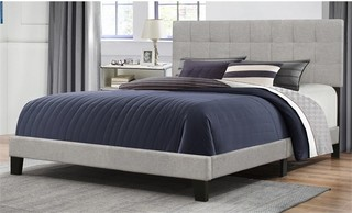 Hillsdale Delaney Upholstered Queen Panel Bed, Glacier Gray