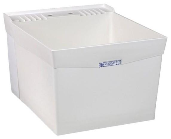 Mustee 18w 24x20x14 3 8 Wall Mount Utility Sink Durastone