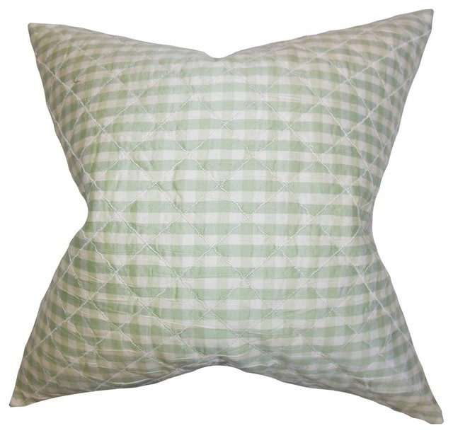 Decorative Plaid Pillows : Addisyn Plaid Pillow, Light Green - Contemporary - Decorative Pillows - by The Pillow Collection