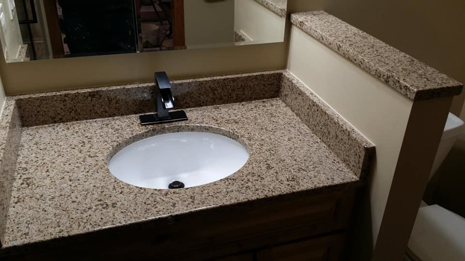 Custom granite top