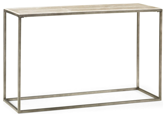 Attractive Hammary Modern Basics Sofa Table With Textured Bronze Base Console Tables