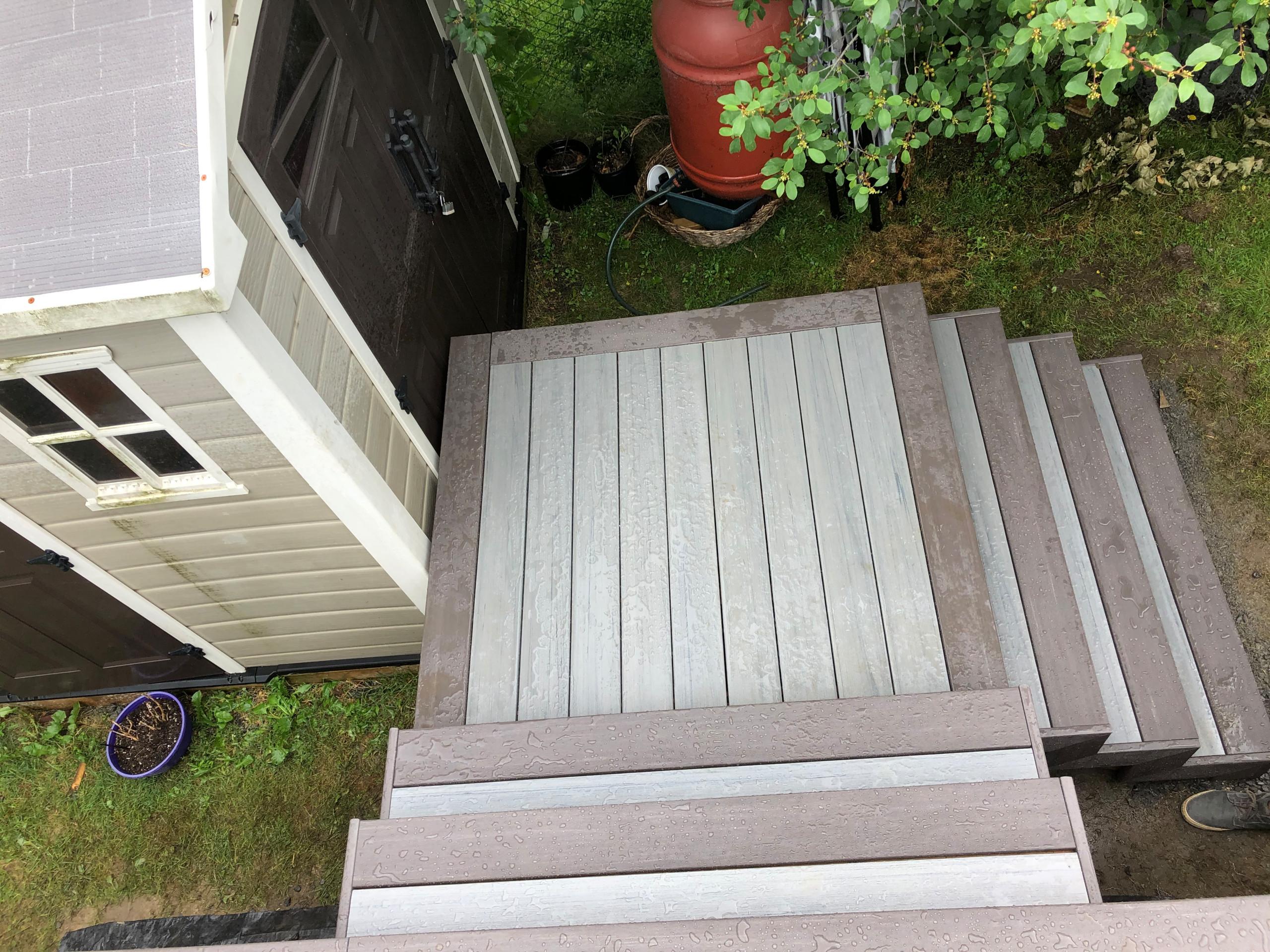 Timbertech composite deck around a pool