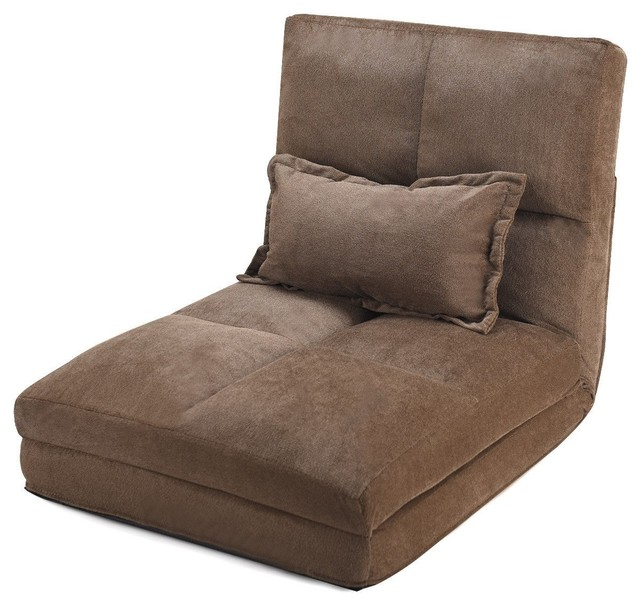 Fold Down Chair Flip Out Lounger w/ Pillow by Unbranded