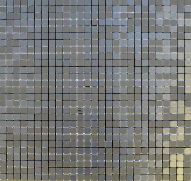 "11.38""x11.38"" Peel and Stick Backsplash Tile, ""Silver Spoon"", Single Tile"