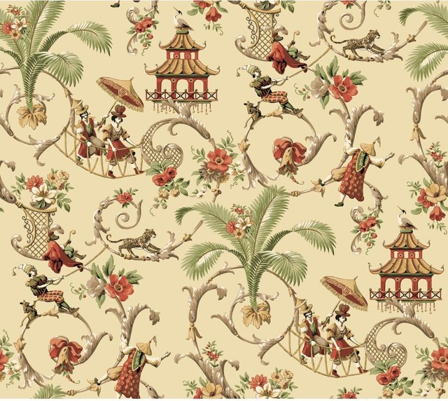 Waverly Wallpaper Mandarin Prose Oriental Asian Toile