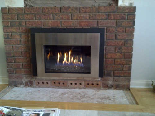 we need a fantastic surround for our new fireplace. Brushed chrome ...