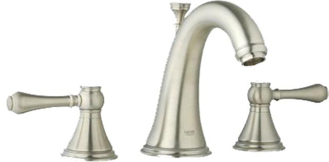 Grohe 20801en0 Polished Nickel Geneva Two Handle Widespread Lav Faucet Modern Bathroom Sink