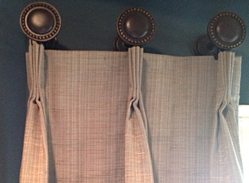How do you hang pleated curtains on medallions for Hardware for hanging curtains