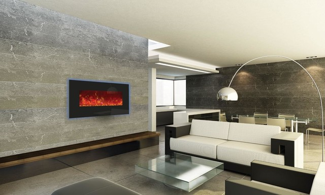 "Enhanced Series Wall Mount/built-In Electric Fireplace, 34""."