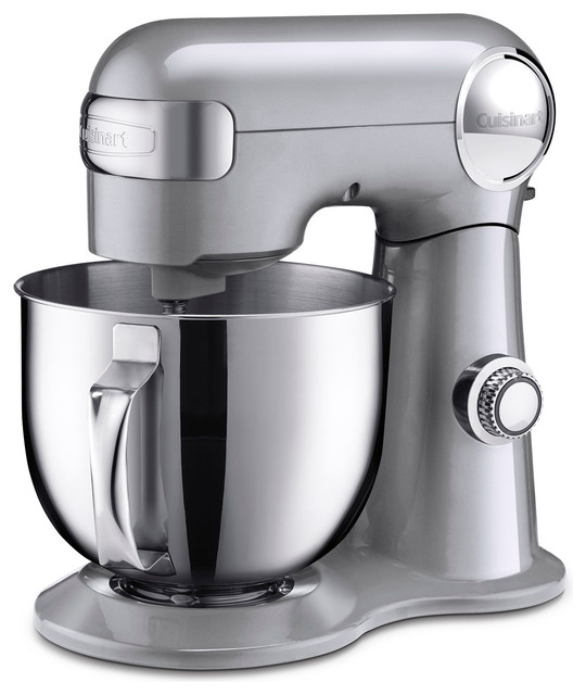 5.5-Qt. Tilt-Back Head Stand Mixer With 1 Power Outlet, Brushed Chrome.